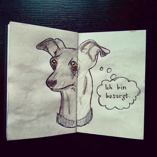 skizzenbuch - windhund